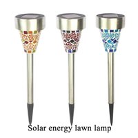 Street outdoor mosaics - christmas lights led solar lights Outdoor solar lights waterproof Stainless Steel Mosaic solar energy lawn lamp Led Garden Light
