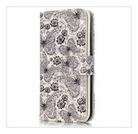 Wholesale Iphone 3g Wallet Cases - 9 car phone case 3G Smartphone X6 Factory Price colored drawing Flower Wallet Leather for iphone 6  7 Phone Case