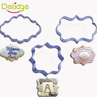 Wholesale European Picture Frames - Delidge 20 pcs European Style Picture Frame Cookie Cutter Stainless Steel Photo Frame Shape Cookie Mold 3 Shapes Mousse Ring