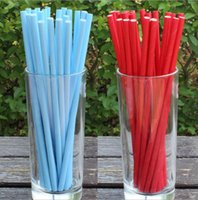 Wholesale Drinking Straws For Party - Wholesale-drinking paper straws solid color for Birthday Wedding Party Decoration gift craft DIY favor Wh