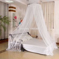 Wholesale Curtain Lace Wholesale - Wholesale- Elegant Classical Romantic Sweet Princess Students Outdoor hang Dome Mosquito Nets Round Lace Insect Bed Canopy Netting Curtain