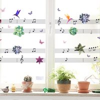 Wholesale Music Vinyl Wall Art - Music Notes Flower Happy Birds DIY Wall Art Stickers for Living Room Bedroom Kids Home Decor Decal Decoration