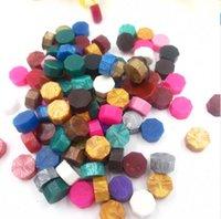 cire à cacheter achat en gros de-Cires Granules Bâtons Timbre Multicolore Rétro Cachetage Forme Huit Face Cire De Mariage Grain Enveloppe Cadeau Direct Deal 0 11wl C