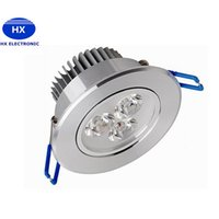 Wholesale Aluminum Sinks - 200pcs lot Recessed LED Downlight 3W 6W 9W Dimmable Ceiling lamp AC85-265V White Warm white LED Down Lamp Aluminum Heat Sink