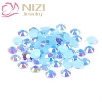 1000pcs 2-5mm и смешанные размеры Светло-голубой AB Смола кристалла Strass Nail Art Rhinestones Non Hotfix 3D Nail Art Design Decorations