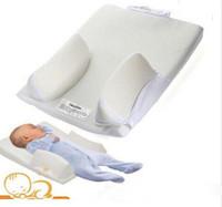 yassı kafa yastıkları toptan satış-Yüksek kalite Toptan-Bebek Bebek Yastık Uyku Sabit Pozisyoner Sistemi Önlemek Düz Kafa Ultimate Vent ücretsiz kargo