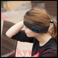 Wholesale Stero Wireless Earphones - sport head wrap Bluetooth wireless Headset stero Earphone Handsfree Music Play Headband Head wrap Cap for iphone samsung Sports
