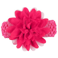 Wholesale baby hair designs for sale - Newly Design Baby Girls Big Flower Elastic Lace Headbands Hair Accessories Drop Shipping