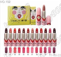 Wholesale Wholesale Factory Number - Factory Direct DHL Free Shipping hot new makeup Liptstick Matte Liptstick 12 Colors 2 sets of color numbers
