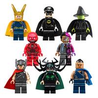 Wholesale Super Heroes Flash - 8pcs set Super Heroes Bulding Blocks Mini Flash Steward Man Figures Block Toys For Children Bricks Kids Gifts Toy