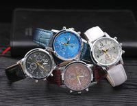 Wholesale Geneva Classic Watch - 100pcs 2017 Splendid Luxury Fashion geneva watch mens Casual Classic Analog Quartz Leather band wrist watches Creative business for women