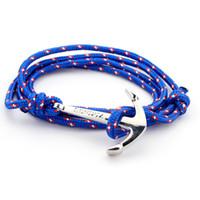 Wholesale Leather Snake Bracelets For Men - Wholesale-Hot sliver plated Anchor Bracelet for Men Wrap Leather Bracelets Bangles Male bracelet homme pulseras hombre erkek bileklik
