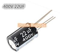condensateurs 22uf achat en gros de-Vente en gros- Livraison gratuite 20pcs 22UF 400V condensateur électrolytique 400V 22UF aluminium condensateur électrolytique 13X21mm