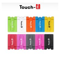 Wholesale One Touch Holder - 3m Sticker Touch One U Silicone Wallet Back Credit Card Stand Holder Phone Holder For iphone Samsung