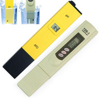 Wholesale Digital Ph Monitor - Wholesale-Portable Pocket Pen Digital PH Meter + TDS Tester Water Quality Purity Monitor Device 0-9990 PPM for Aquarium Pool Hydroponic