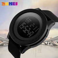 Wholesale 1142 Led - SKMEI Large Dial Outdoor Men Sports Watches LED Digital Wristwatches Waterproof Alarm Chrono Calendar Fashion Casual Watch 1142