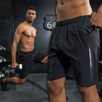 Wholesale male jogging shorts resale online - Men Loose Marathon Quick Dry Sports Running Shorts Professional Male Gym Sports Short Hot Outdoor Jogging Elastic Shorts