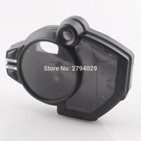 yamaha yzf r1 al por mayor-La cubierta de la caja del reloj del tacómetro del velocímetro negro se adapta a la motocicleta Yamaha YZF R1 2009-2012 envío gratis personalizado