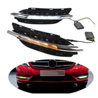 Wholesale Daytime Mercedes - Day Light For Mercedes Benz W246 B180 B200 2011 2012 2013 2014 DRL 12V LED Daytime Running Light Waterproof with Turning Signal