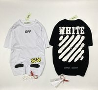 Wholesale Tiger Stripes Pattern - Off WhiteT shirt Men's Goods Base Tiger Pattern Lnkjet Graffiti Stripes Short Sleeve black White Tee