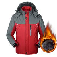 artı boyutu parkas toptan satış-Toptan-2016 erkek Kış Ceketler Kalınlaşmak Patchwork Dış Giyim Palto Erkek Kapşonlu Parkas Doudoune Sıcak Artı Boyutu 6XL 8XL 9XL Marka Giyim