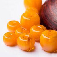 ingrosso cera d'api gialla-20pcs / lot giallo cera d'api sciolto perline forma barile accessori gioielli collana bracciale fare collana fai da te bracele