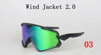 Wholesale Sunglasses Jackets - 2017 New Wind Jacket 2.0 Cycling Eyewear 6 Colors Outdoor Sport Sunglasses