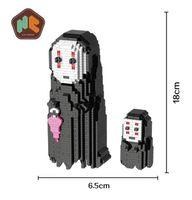 Wholesale Miyazaki Action - Action & Toy Figures Big Size Diy Hayao Miyazaki No Face Man Models Micro Diamond Building Blocks Minute Brick Educational Toy For Kids