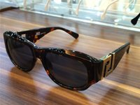 Wholesale greek box - luxury men Vintage Rare Sunglasses T75 BIG GREEK sunglasses vintage crystal gold rare biggie Brand New with Box