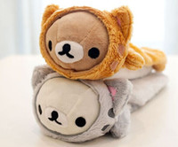 Compra Peluche Porta All'ingrosso-All'ingrosso-Super Kawaii NUOVO SAN-X Rilakkuma Bear CHANGE CAT 23CM Scuola Bambini Pencil Pencil CASSA PACCHETTO Peluche Portafoglio Portafoglio Portafoglio Cassa