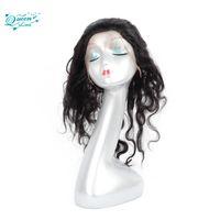 Wholesale Wig Bundles - 360 Lace Frontal With Hair Bundles Body Wave Brazilian Virgin Human Hair Peruvian Indian Malaysian Virgin Human Hair Weaves Closure Nat