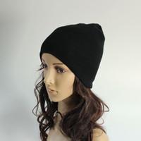 yetişkin siyah şapka toptan satış-Stilleri patlama siyah kasketleri şapkalar caps moda erkekler ve kadınlar için yün şapka hip hop yaratıcı nakış örme şapka yetişkinler