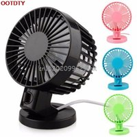 Vente en gros - Mini portable double blade Desk Super Mute Laptop pour PC Refroidisseur USB Small Fan Cooling