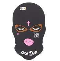 Wholesale Iphone 3d Skull - 3D Cute Silicon Skull Mask Jesus Christian Cover Case for iPhone 6s 6 plus 7 5S SE i7plus goophone S6 S7 S8 plus