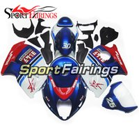 Wholesale Blue Fairing Kit For Suzuki - Fairings For Suzuki GSXR1300 Hayabusa 97 98 99 04 05 06 07 ABS Injection Plastic Motorcycle Fairing Kit Bodywork Cowling Blue Red 30