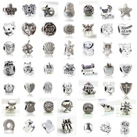 Wholesale pandora animals for sale - Fit Pandora Charm Bracelet Styles European Silver Charms Big Hole Loose Bead DIY Snake Chain For Women Bangle Necklace Jewelry