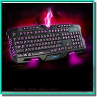 Wholesale Lol Usb - Gaming Keyboard 104keys led Backlight 19keys Anti-ghost USB multi-media Laser Lettersteclado mecanico Mechanical Keyboard Dota LOL