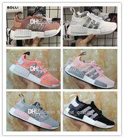 Wholesale Running Kicks - NMD Runner R1 Primeknit OG Black Triple White Nice Kicks Circa Knit Mens Women Running Shoes Sneakers Originals Classic Casual Shoes US 5-11