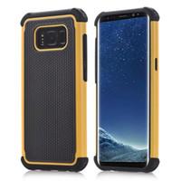 estuche rígido híbrido resistente al por mayor-Para Samsung Galaxy S8 S8 Plus Carcasa híbrida Rugged Impact Rubber Matte Resistente a los golpes Carcasa dura dura para Samsung Galaxy S6 S6 Edge S5 S4 S3 S2