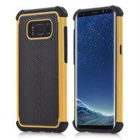 hibrid dayanıklı darbe kauçuğu toptan satış-Samsung Galaxy S8 S8 Artı Hibrid Durumda Sağlam Darbe Kauçuk Mat Darbeye Dayanıklı Ağır Hard Case Samsung Galaxy S6 S6 Kenar S5 S4 S3 S2