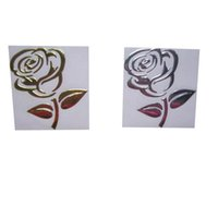 Wholesale Flower Decals Cars - Rose Flower Decals 3D PVC Wholesale Funny Sticker For Car Truck Auto Paster Decal Art Car Styling10 piece  lot Z-071022-3