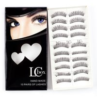 Wholesale Super D - Wholesale LCBOX Brand False Eye Lashes No. 3 lashes 10 pairs per box super natural with gift box