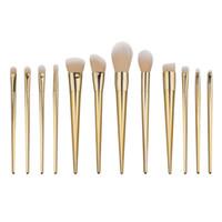 Wholesale tool bb online - Makeup Brush Set Concealer Foundation BB Cream Powder Eyebrow Blush Maquiagen Pincel Make up Golden Tools Kabuki Brush Kits