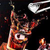 ingrosso rocce a forma di cuore-Bicchieri di Whiskey in acciaio inox a forma di cuore Cubetti di ghiaccio in cubetti di raffreddamento Raffreddamento Raffreddamento IcestoneIce Benne e raffreddatori I099