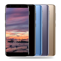 Wholesale Smartphone Metal Body - 5.5inch Goophone S8 Smartphone 1G 8G MTK6580 Quad Core Show fake 4G LTE 4G 128G Android 6.0 metal body cellphone GPS
