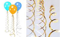 packs de fête pour les anniversaires achat en gros de-Festive 6pc / pack Plafond Suspendu Swirl Décoration Métallique Pour Le Mariage De Noël Halloween Décoration De Fête D'anniversaire Bébé Shower Boy