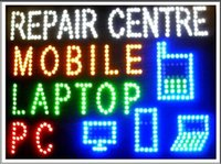 Wholesale Custom Laptops - 2017 Hot Sale custom Graphics 15.5*27.5 Inch indoor Ultra Bright flashing mobile pc laptop repair centre sign of led-