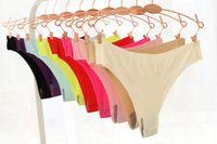 Wholesale Nylon Spandex Underwear Women - Invisible Seamless Underwear Women G Strings Panties Thongs Nylon Spandex Crotch Thong Tanga Braga Panty Ropa Interior Mujer Calcinha