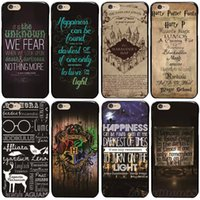 Wholesale Iphone 5c Map - Harry Potter Marauders Map Pattern hard Black Skin Case Cover for iPhone5 5s 5se 5c 6 6s 6Plus 6s plus 7 7plus