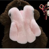 Wholesale Wholesale Faux Fur Vests - Girls fur vest Fashion V-Neck faux fox fur child vest jacket multicolor casual cute slim baby fur vests Winter childrens vest warm A7359